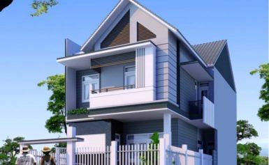 Mẫu nhà phố đẹp 2 tầng – Thiết kế kiến trúc sắc sảo, vô cùng tinh tế