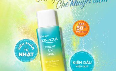 Review kem chống nắng Biore Skin Aqua Belle Lanco Avene Missha